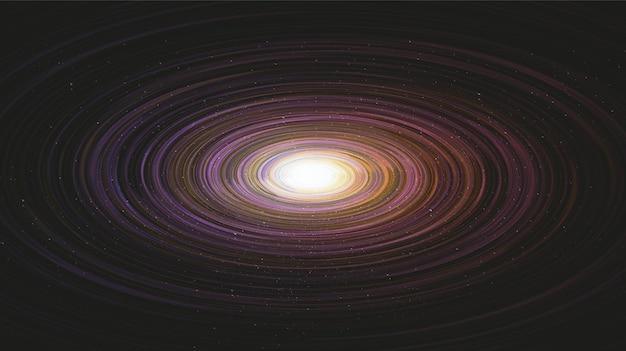 Fantastique spirale de la voie lactée interstellaire géante