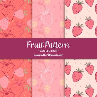 Fantastiques motifs de fraises