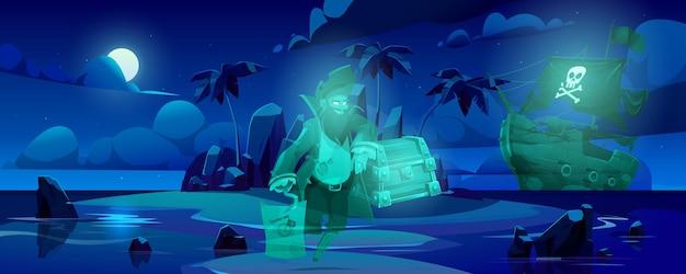 Fantôme pirate sur l'île hantée