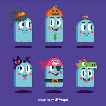 Des fantômes en costumes pour halloween