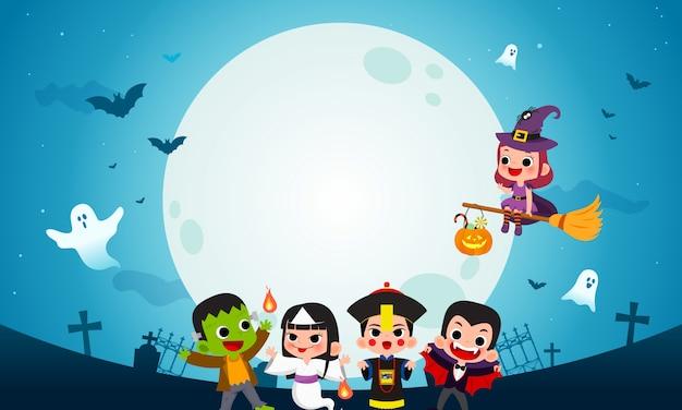 Fantômes d'halloween heureux