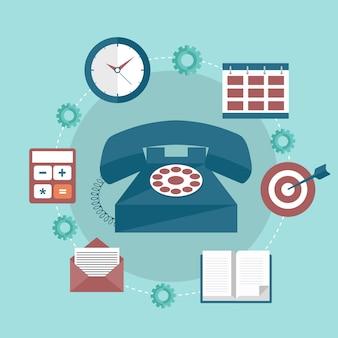 Faq, newsletter, support, icône de contact