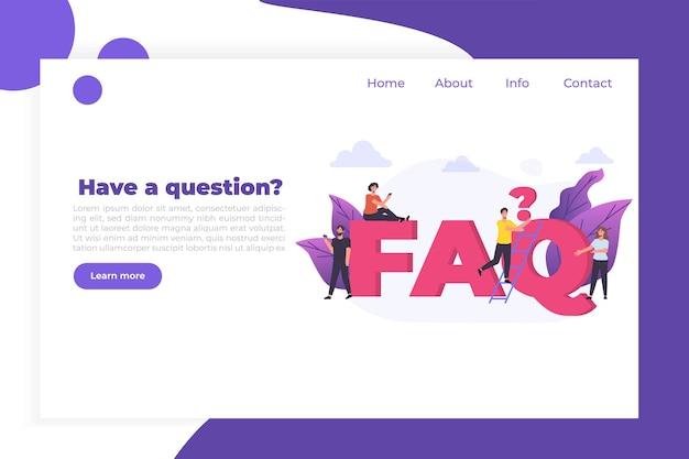 Faq, questions fréquemment posées, manuel d'utilisation ou guide, concept de centre de support en ligne.