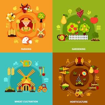 Farming square compositions set