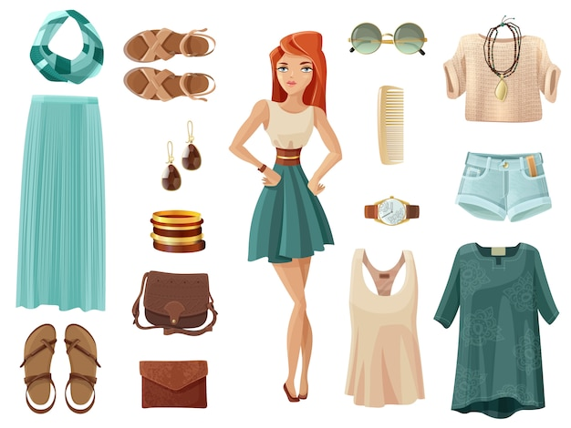 Fashion woman set