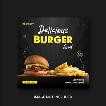 Fast food médias sociaux post eps