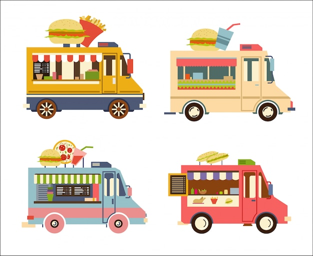 Fast food trailer set