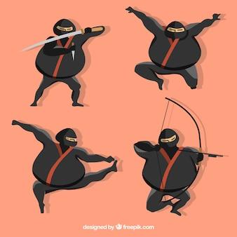 Fat ninja collection de caractères
