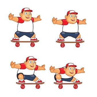 Fat skater boy jeu animation sprite