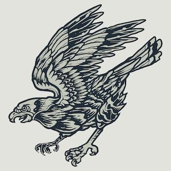 Faucon volant