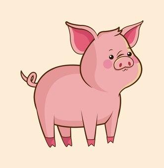 Faune de cochon mignon