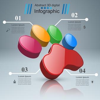 Faune infographique sur le fond gris.