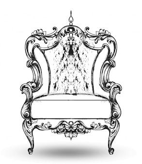 Fauteuil riche de meubles baroques