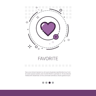 Favorite love plus symbole web banner