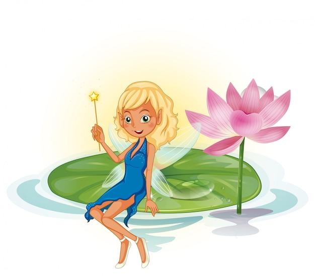 Fée et lotus