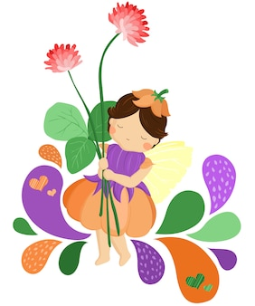 Fée tenant une fleur