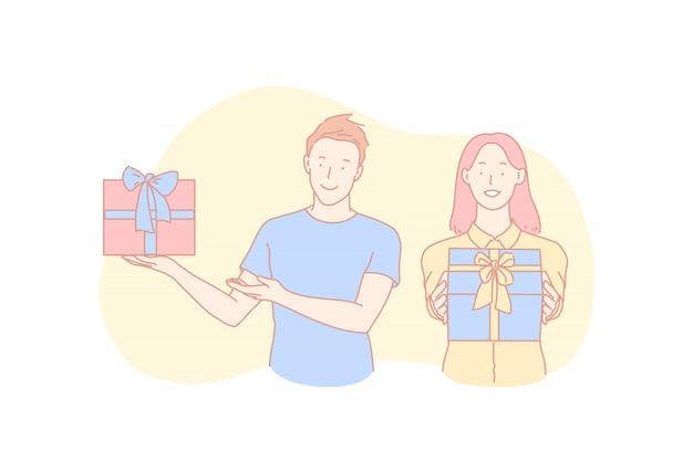Félicitations d'anniversaire, tradition de vacances, concept de célébration de noël