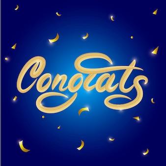 Félicitations lettrage bannière