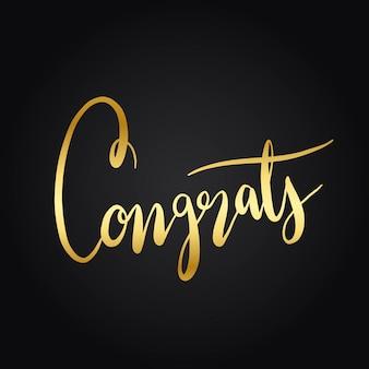 Félicitations typographie style vecteur de style