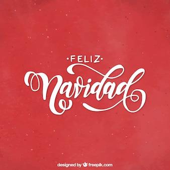 Feliz navidad lettrage
