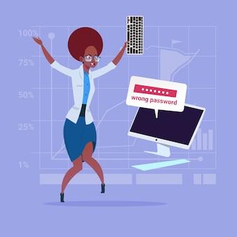 Femme d'affaires afro-américaine en colère