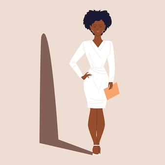Une femme d'affaires afro prospère