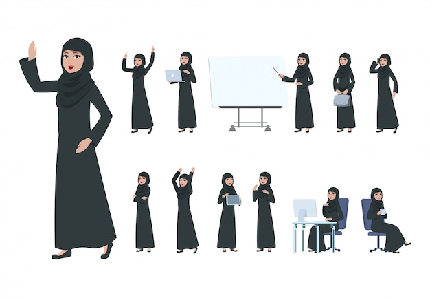Femme d'affaires arabe.
