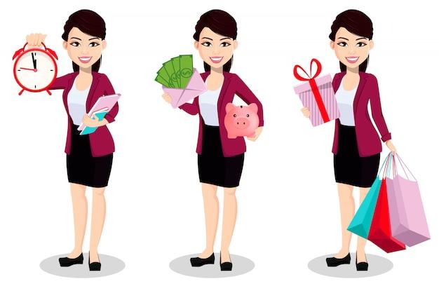 Femme d'affaires asiatique en vêtements de bureau