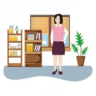 Femme d'affaires au bureau