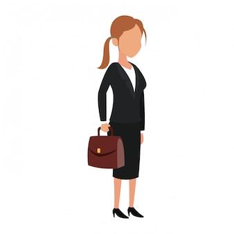 Femme d'affaires avatar vector illustration graphisme