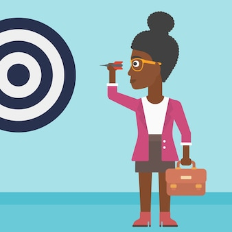 Femme d'affaires et cible