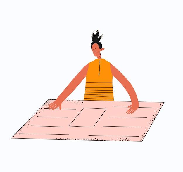 La femme d'affaires ethnique examine le plan de projet
