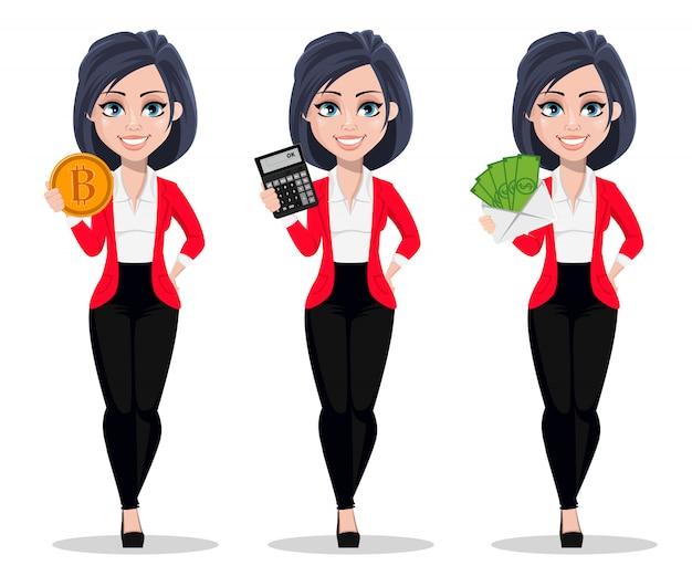 Femme d'affaires, gestionnaire, banquier