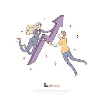 Femme d'affaires et homme travaillant ensemble