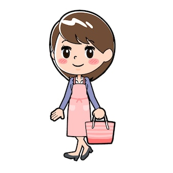 Femme d'affaires en ligne cuisiner des achats