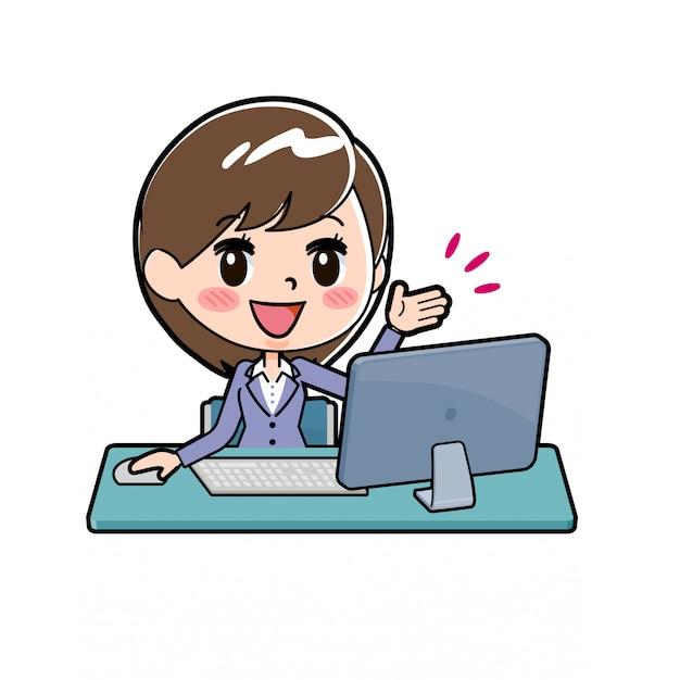 Femme d'affaires en ligne