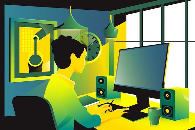 Femme affaires, séance, lieu de travail, bureau