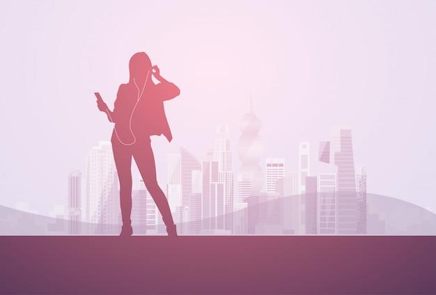 Femme d'affaires silhouette