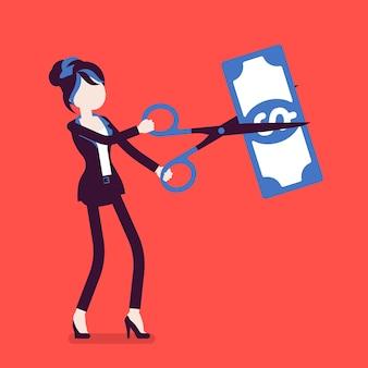 Femme d'affaires à taux réduit