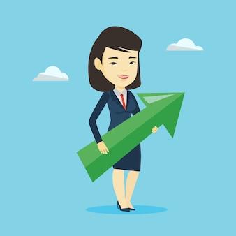 Femme d'affaires visant à la croissance des entreprises.
