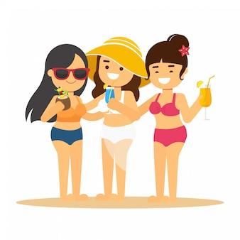 Femme aller voyager en vacances d'été