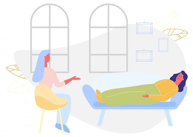 Femme allongée sur un canapé femme assise sur une chaise à la maison