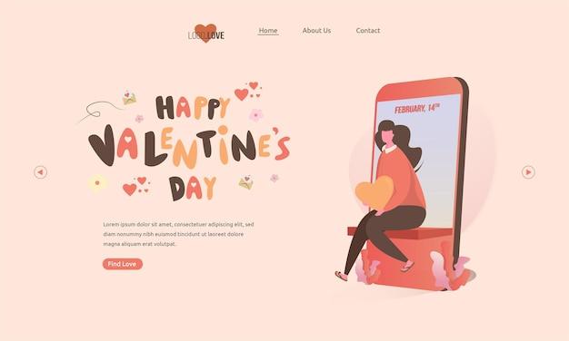 Une femme assise en attente de son amour pour la saint-valentin