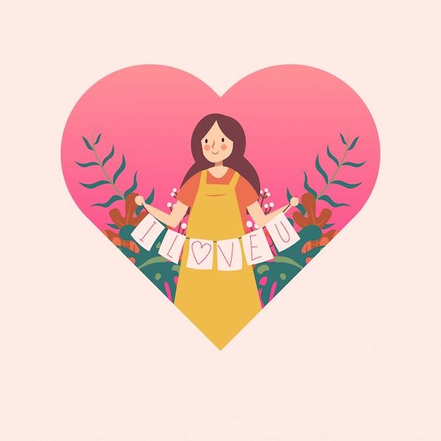Femme au coeur