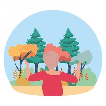Femme avatar dans le parc