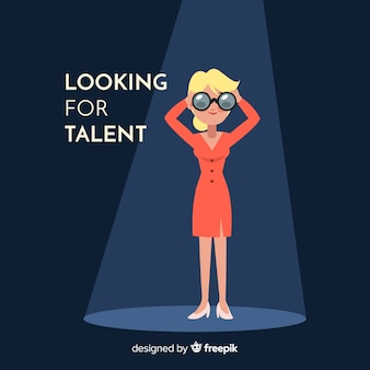 Femme binoculaire à la recherche de talent