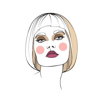 Femme blonde avec maquillage