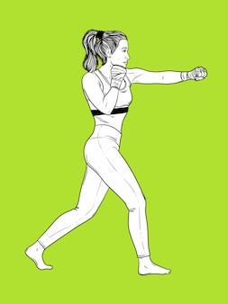 Femme boxe