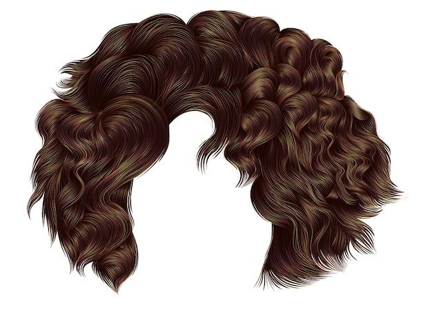 Femme brune cheveux courts bouclés