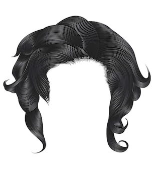 Femme cheveux bouclés couleur grise.